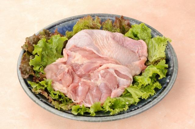 【定貫:2kg】 冷蔵 国産鶏もも1パック (唐揚、煮込み、照り焼き、蒸し、等)